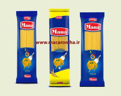 انواع ماکارونی رشته ای اسپاگتی مانا
