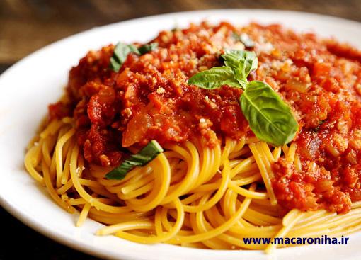 عرضه ماکارونی رشته ای اسپاگتی درجه یک